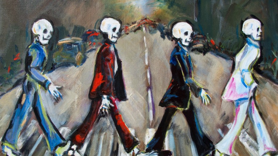 abbey road parodies skull