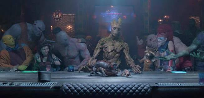 last supper guardiani della galassia I am Groot