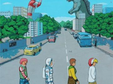 abbey Road Godzilla e Ultraman