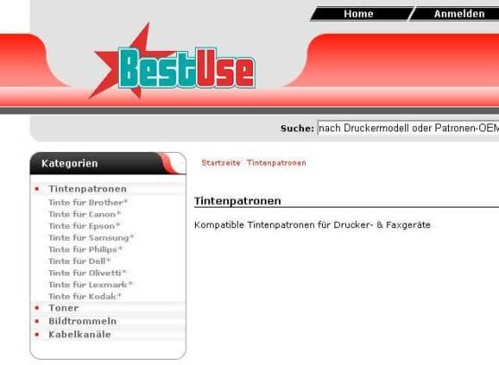 Bei Bestuse.de fehlt mittlerweile eine Kategorie für HP-Tinte
