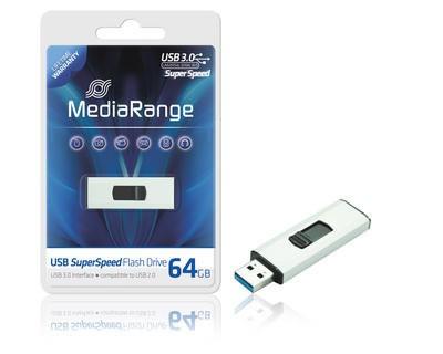 64 GB USB-3.0-Stick. Das aktuelle Flaggschiff von MediaRange