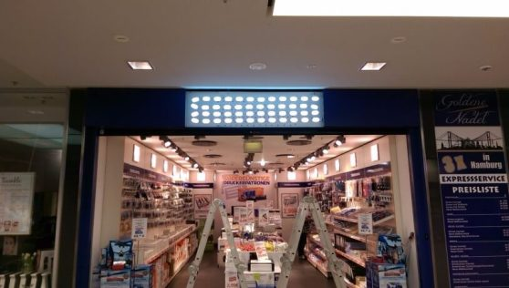Moderne LED-Beleuchtung hinter dem Leuchtkasten