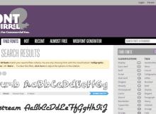 Kostenlose Schriften zum Download: Fontsquirrel