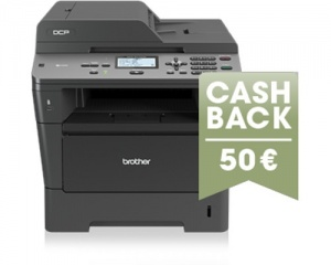 Der Brother DCP-8110DN kostet nur 199,99 €, wenn man das Cashback nutzt.