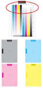 Auch bei Farbdruckern gibt es einen DIN-Test