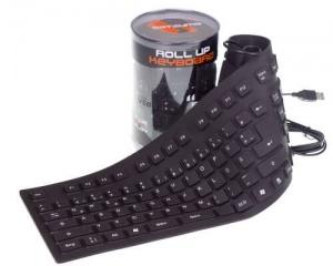 Das Keyboard - eingerollt in einer Dose.