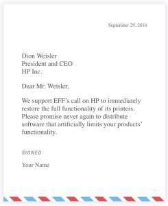 EEF-Petition: HP soll sich entschuldigen