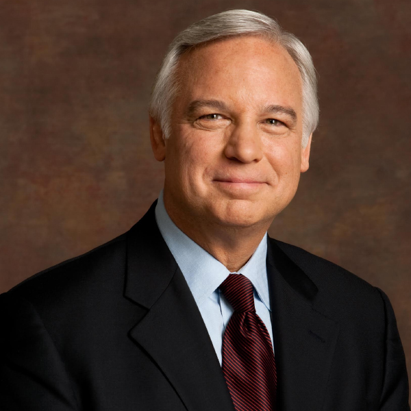 Jack Canfield, Author, in a black suit