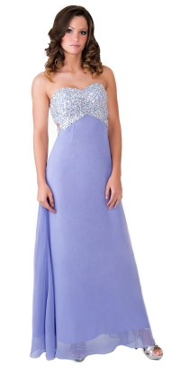 Formal Prom Dress Beaded Crystal Bridesmaid Wedding Party ...