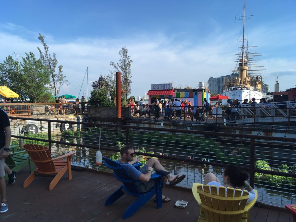 Spruce Street Harbor Park Floating Beer Garden, July 2018