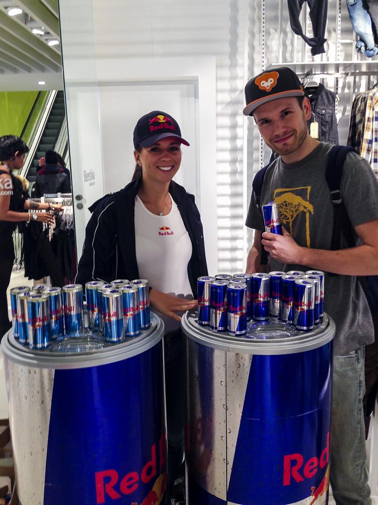 Bershka Opening Dresden - Red Bull to the fullest