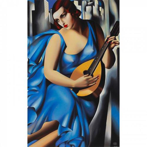 Femme bleue à la guitare - Tamara-de-Lempicka