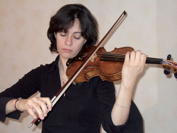 Nathalie Descamps au Violon