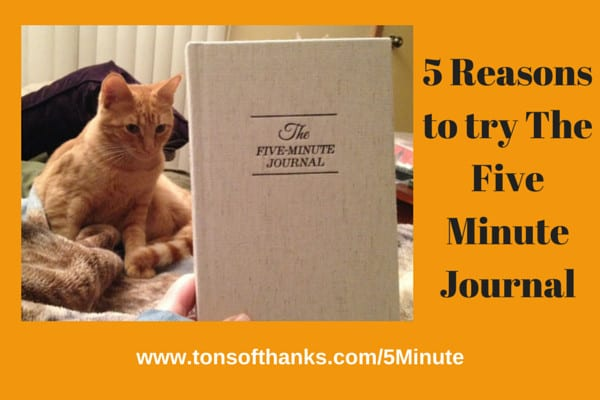 Five Minute Journal with Cat