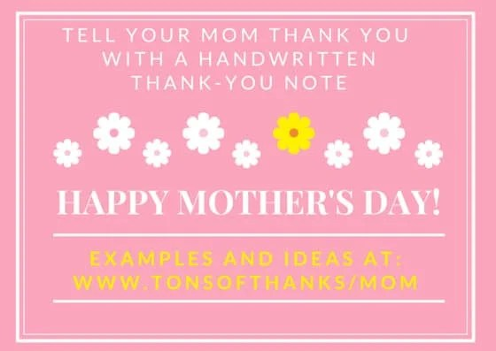 Write A MotherS Day Thank You Note To Your Mom
