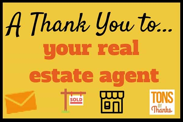 Thank your real estate agent with a thank-you note
