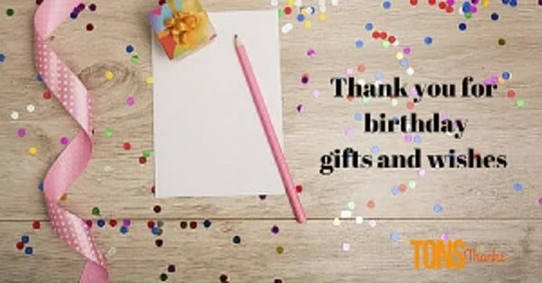 Thank you for birthday gifts and wishes examples birthday thank you note m4hsunfo