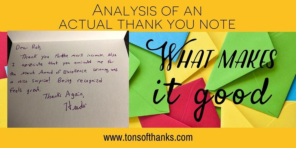 thank you note analysis