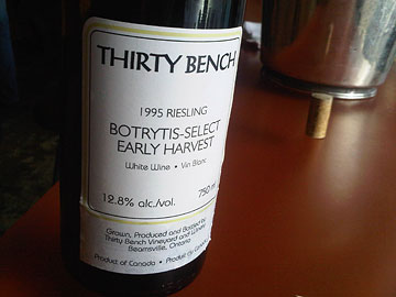 Thirty Bench Botrytis-Select Early Harvest Riesling 1995