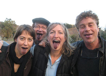 Purple tongues post L'Aventure tasting