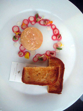 Foie Gras at The Terrace Restaurant, Mission Hill