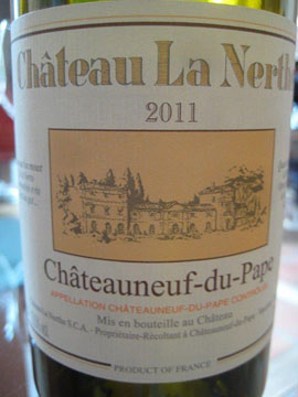 The exceptional Chateau La Nerthe Blanc 2011