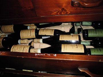 A drawerful of Quintarelli Amarone at Bottega del Vino