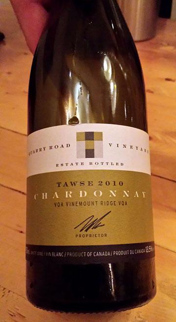 Tawse Quarry Road Vineyard Chardonnay 2010