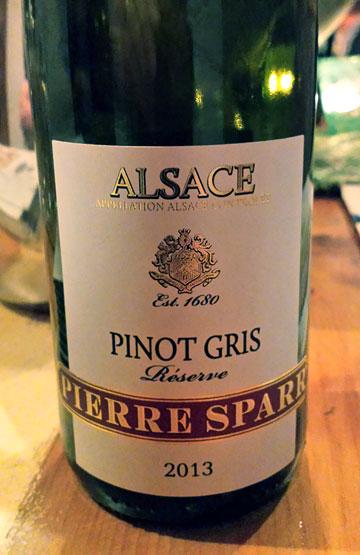 Pierre Sparr Pinot Gris Réserve 2013