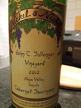 John C. Sullenger Vineyard Napa Valley Cabernet Sauvignon 2012