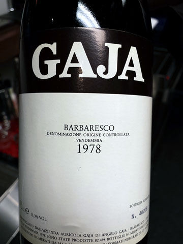 1978 GAJA Barbaresco