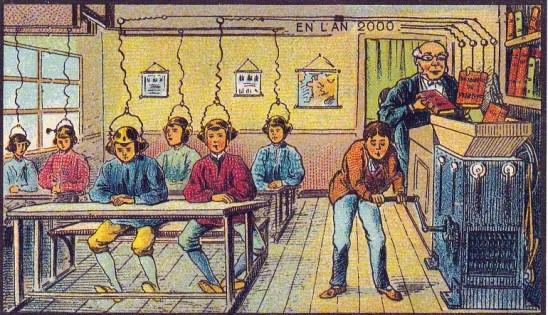 A l'école, Jean Marc Cote, 1901.