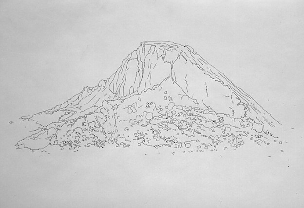 Mound of Sand - pen on paper, 40 x 60cm, 2004