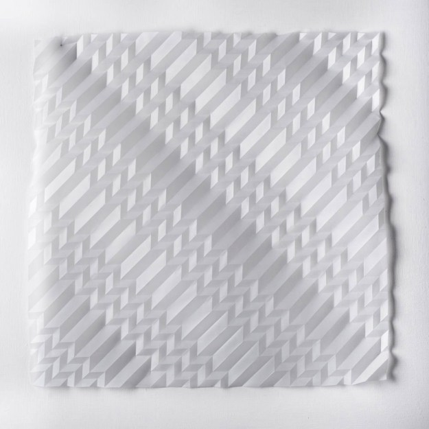 Experiment in Drawn and Folded Form Number 9, 48 x 48 x 2cm, 2015