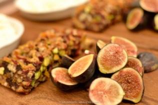 Housemade ricotta, honey, pistachio & apricot bread, figs