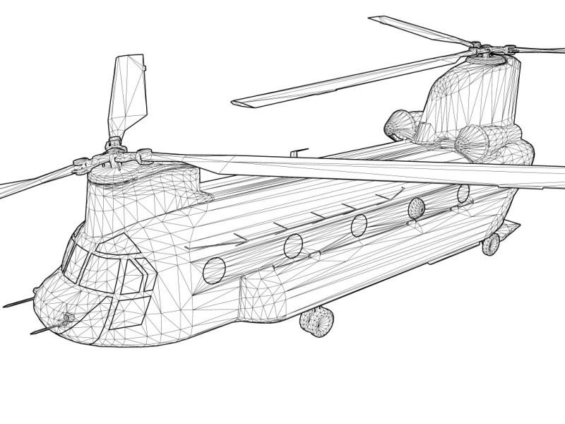 Tony Elms // 3D Artist » Boeing CH-47 Chinook