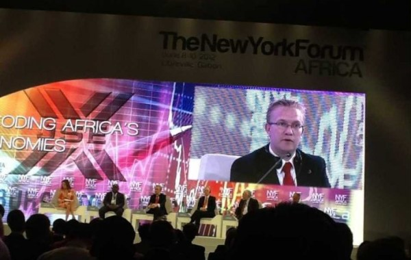 The Tony Elumelu Foundation's CEO, Dr Wiebe Boer at the New York Forum Africa convention.