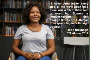 Joan Urganics, Tony Elumelu Entrepreneur