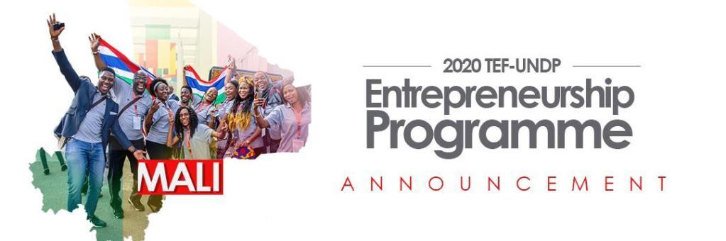TEF-UNDP Entrepreneurship Programme Annoucement
