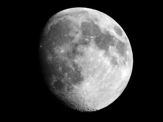 The Moon BW