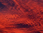sunset, sky, red, clouds,