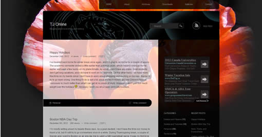 Modified Piano Black WordPress Theme