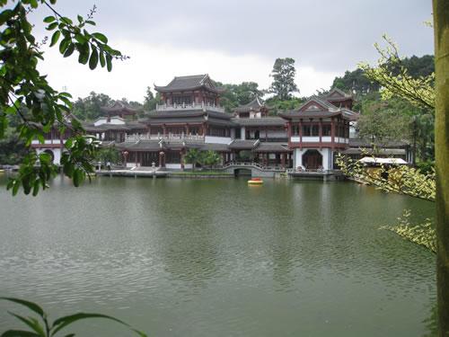 Qingxiushan Park Lake Scene