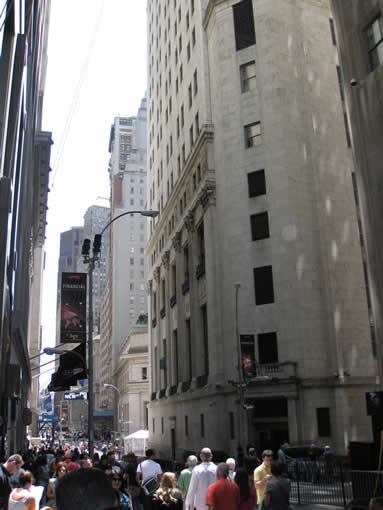 Downtown Wall Street