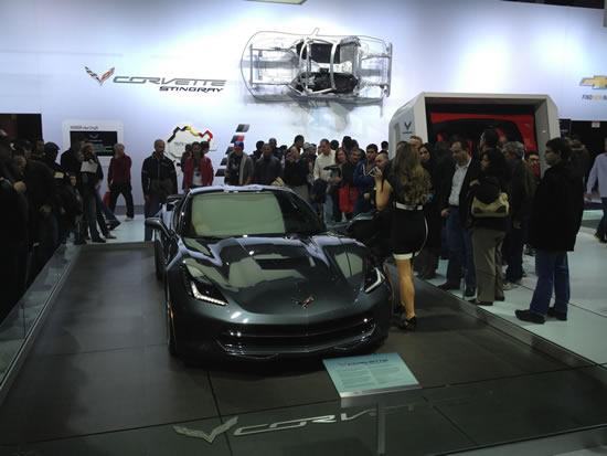 C7 Corvette Stingray display.