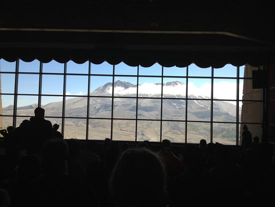 Mount St Helen Johnston Ridge Observatory theater