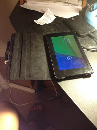 Google Nexus 7 case open