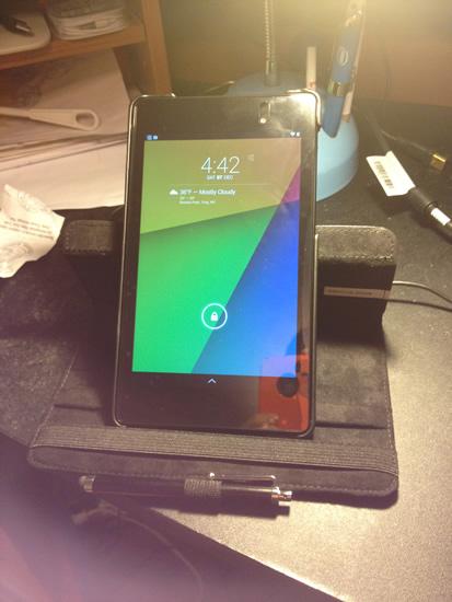 Google Nexus 7 case portrait mode