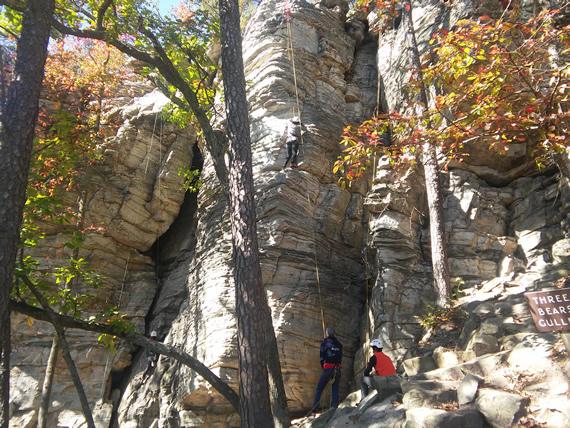 Pilot Mountain State Park rock climbing