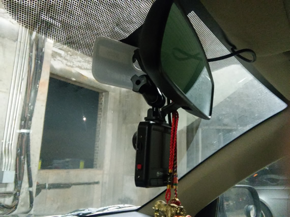 Transcend DrivePro 100 installed